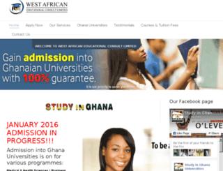 ghanauniversityadmission.getafricaonline.com screenshot