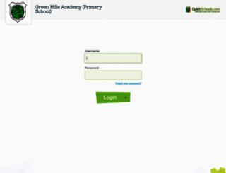 ghaprimary.quickschools.com screenshot