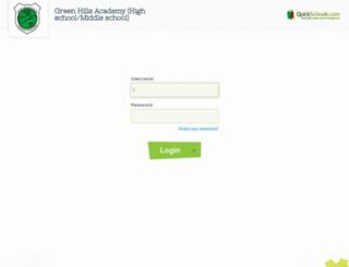 ghasecondary.quickschools.com screenshot