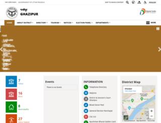 ghazipur.nic.in screenshot