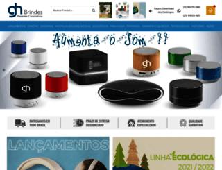 ghbrindes.com.br screenshot