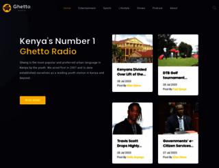 ghettoradio.co.ke screenshot
