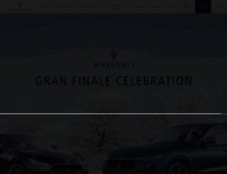 ghibli.maserati.com screenshot