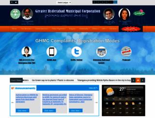 ghmc.gov.in screenshot