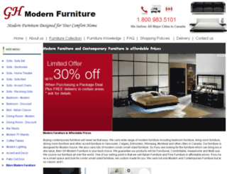 ghmodernfurniture.com screenshot