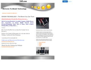 ghoshtech.2itb.com screenshot