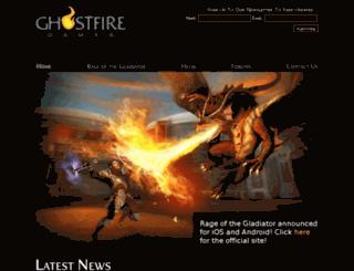 ghostfiregames.com screenshot