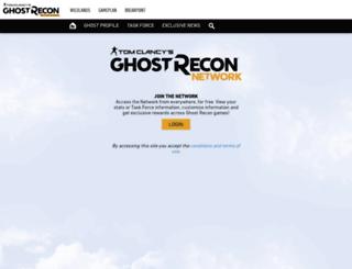 ghostreconnetwork.ubi.com screenshot