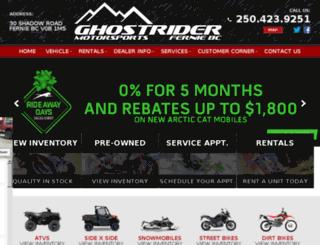 ghostridermotorsports.com screenshot