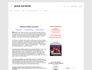 ghostsandstories.com screenshot