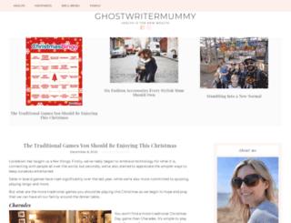 ghostwritermummy.co.uk screenshot