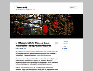 ghousevill.wordpress.com screenshot