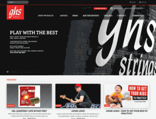 ghsstrings.com screenshot