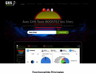 ghstools.fr screenshot