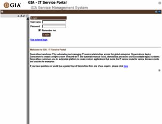 gia.service-now.com screenshot
