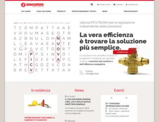 giacomini.it screenshot