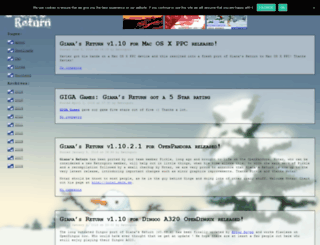 gianas-return.de screenshot