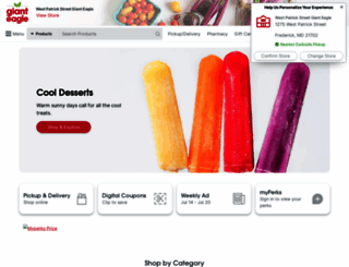 gianteagle.com screenshot