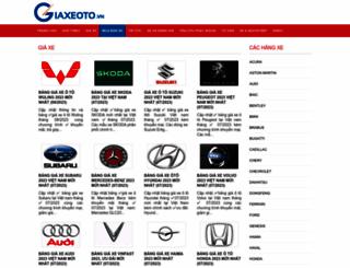 giaxeoto.vn screenshot