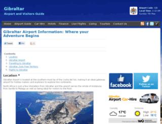 gibraltarairport.org screenshot