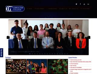 gibraltarcollege.org screenshot