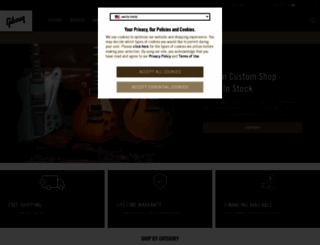 gibson.com screenshot