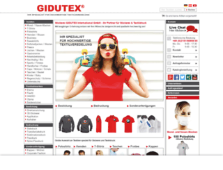 gidutex.de screenshot