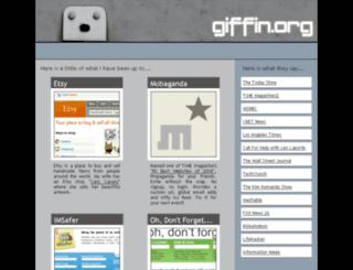 giffin.org screenshot
