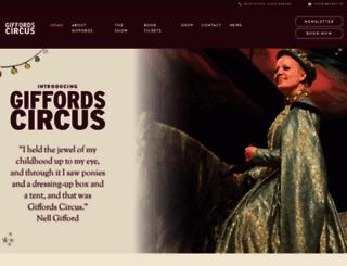 giffordscircus.com screenshot