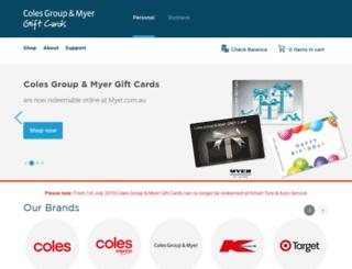 giftcards.com.au screenshot