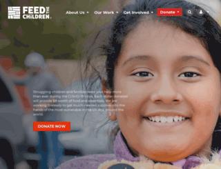 giftcatalog.feedthechildren.org screenshot