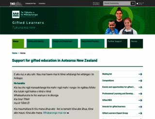 gifted.tki.org.nz screenshot