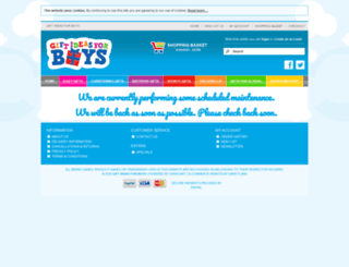 giftideasforboys.co.uk screenshot