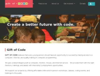 giftofcode.nationbuilder.com screenshot