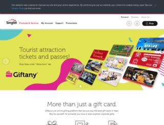 gifts.singtel.com screenshot