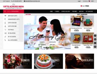 giftsacrossindia.com screenshot