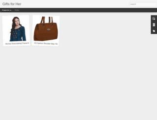 giftsforher.co.in screenshot