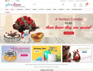 giftsnflowers.in screenshot