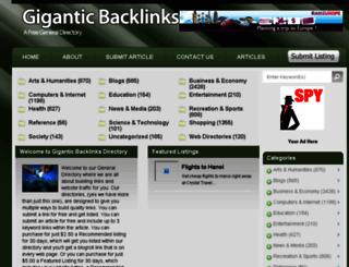 giganticbacklinksdirectory.info screenshot