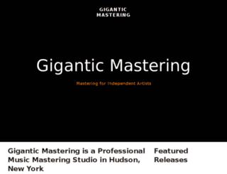 giganticmastering.com screenshot