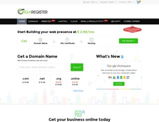 gigaregister.com screenshot