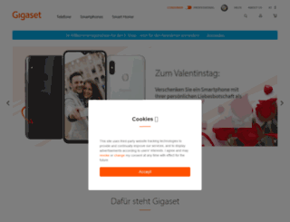 gigaset-shop.at screenshot