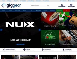 giggear.co.uk screenshot