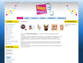 gigglespartysupplies.com.au screenshot