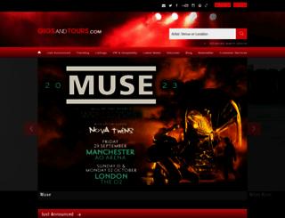 gigsandtours.com screenshot