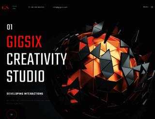 gigsix.com screenshot