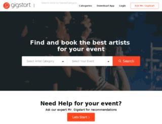 gigstart.com screenshot