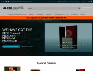 gikacoustics.fr screenshot
