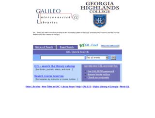 gil.highlands.edu screenshot