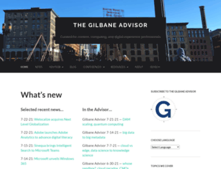 gilbane.com screenshot